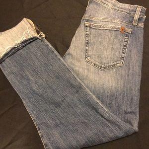 Joe's Jeans Cropped Distressed Jeans